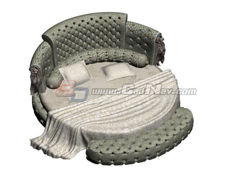 king size round bed king size round bed 3d model 3dmax files free download