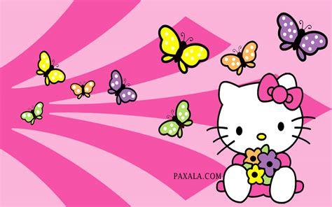 imagenes de kitty mariposa wallpaper hello kitty con mariposas de colores