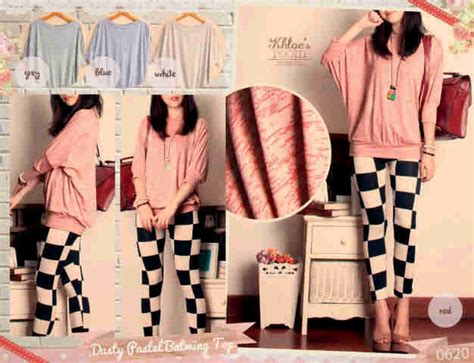 Blefairy Top Bahan Twiscone Hq Fit To L baju warna pastel i l o v e f a s h i o n s s