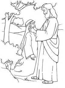 coloring pages jesus heals the sick jesus heals a deaf mute coloring page