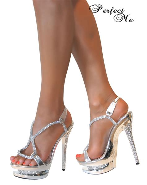 high strappy heels glitter platform strappy stiletto