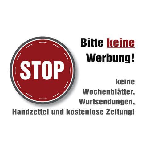 Bitte Keine Werbung Aufkleber Post 4 x aufkleber stop bitte keine werbung brief briefkasten