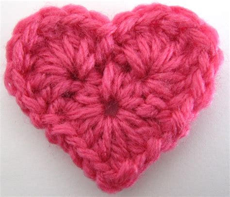 heart pattern in crochet free crochet pattern small heart knitting