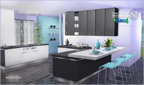 Hair Style Tools Name In Kitchen by Bechamel Kitchen At Simcredible Designs 4 187 Sims 4 Updates