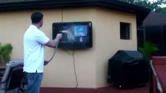 How To Hang A Kitchen Cabinet the tv shield outdoor tv cabinet enclosure case
