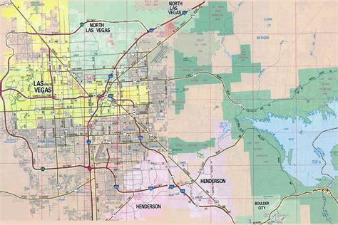 america map las vegas large detailed road map of las vegas city vidiani
