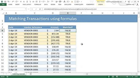 Trade Credit Formula Matching Transactions Reconciling Using Excel Pivot Tables