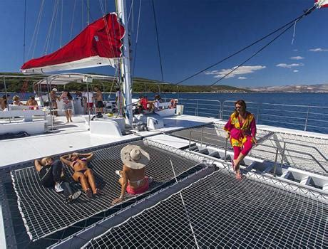 full day mega catamaran excursion to hvar split boat tours