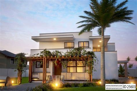 modern 5 bedroom house design id 25603 floor plans by modern 5 bedroom house design id 25603 floor plans by