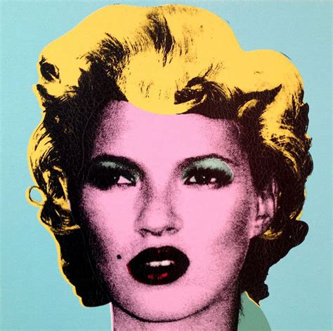 Warhol Vs Banksy Exhibition Features Kate Moss Image by Banksy Artworks At Rome S Palazzo Cipolla Museum