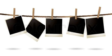 photo hanging clips collection of blank images hanging on a piece of string