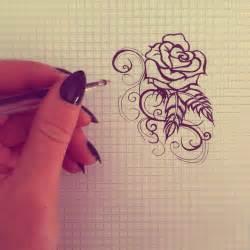 simple rose tattoo design by kaylielou on deviantart
