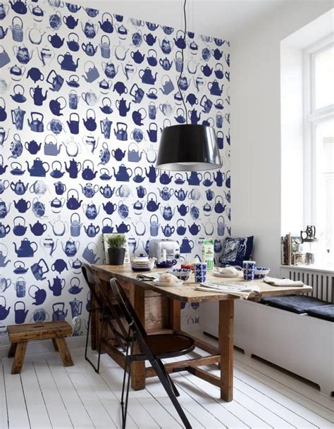 Kitchen Design Ideas: wallpaper inspirations