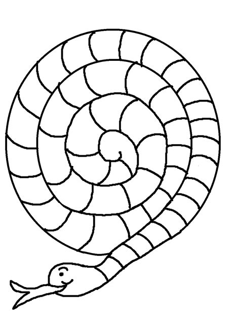 spiral snake coloring page snake clipart spiral pencil and in color snake clipart