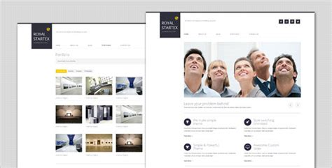 themeforest author level royalstartex minimalist business html template by