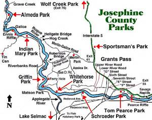 josephine county oregon map josephine county county parks
