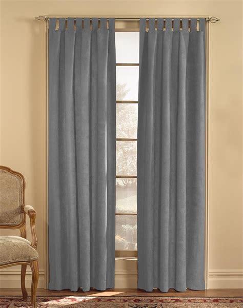microsuede curtains microsuede tab top wide width curtain panel curtainworks com
