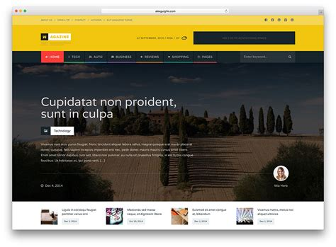 themes wordpress one column top 30 responsive magazine news wordpress themes for
