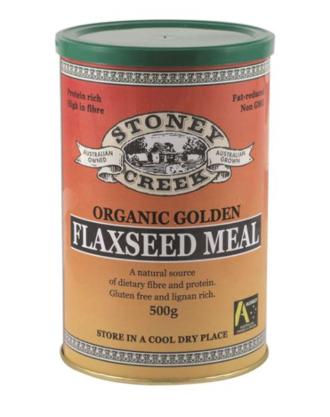 Golden Flaxseed 500 Gr stoney creek organic golden flaxseed meal 500g nature