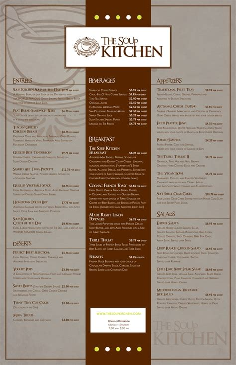 soup kitchen menu ideas the soup kitchen menu design heavybrea multimedia is me