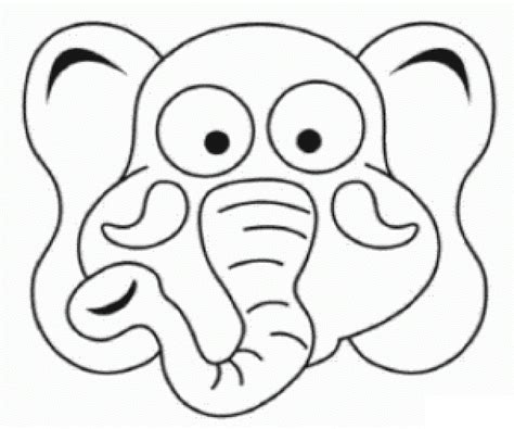 elephant mask coloring pages elephant mask printable coloring coloring pages