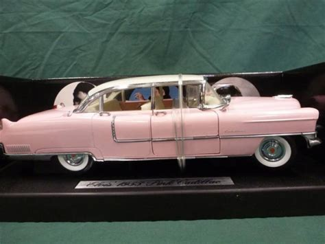 elvis 1955 pink cadillac model mrc elvis pink cadillac 1955 1 18 scale die cast collect