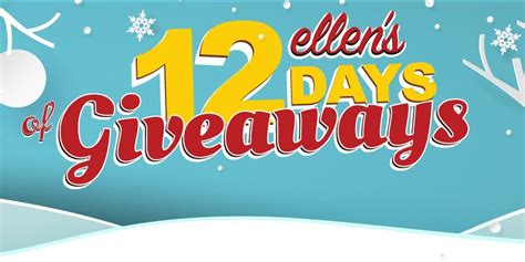 12 Days Of Giveaway Ellen - ways to win ellen s 12 days of giveaways for 2017 we love ellen