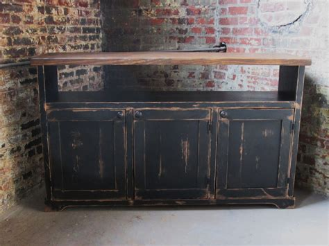 distressed corner tv cabinet rustic media console spaces rustic with buffet distressed