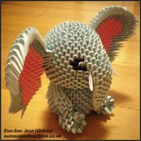 3d Origami Elephant - 1000 ideas about 3d origami on origami