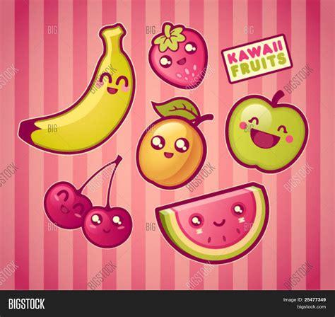 imagenes de uvas kawaii vector y foto kawaii sonriendo frutas bigstock