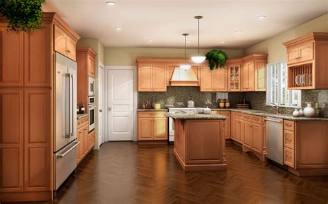 Kraftmaid Bathroom Design Software Birch Cabinetry Cherry Stain Finish Traditional Kitchen