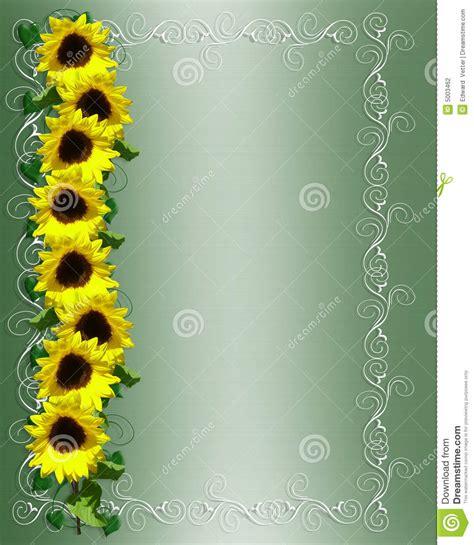 sunflowers border stock photography image