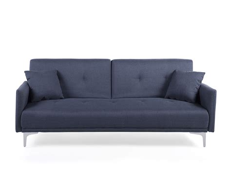 bed settee ebay sofa bed upholstered sofa couch dark blue 4 seater settee