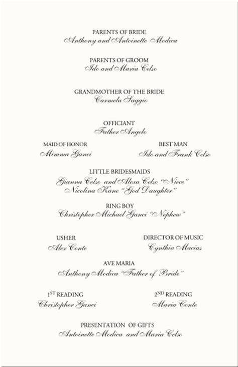 wedding reception agenda template 4 best agenda templates