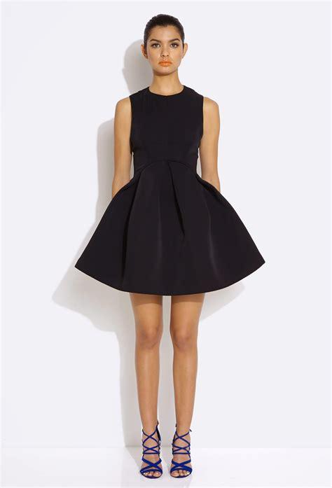 Clq Dress Mini Black aq aq candice black skater mini dress with bonded skirt