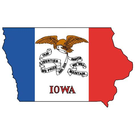 Iowa Search Vector Map And Flag Of Iowa At Vectorportal