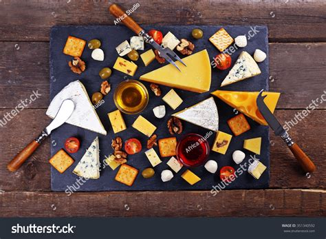 tasting the magic from a z the best food and beverages at walt disney world books cheese tasting top view stock photo 351340592
