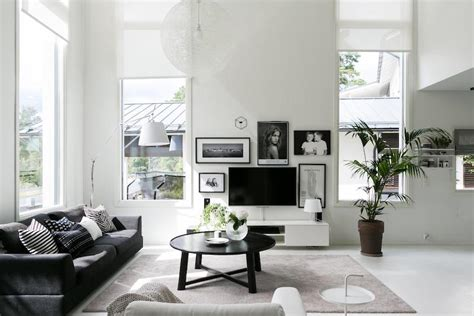 Black And White Scandinavian Interiors by Scandinavian Modern Black And White Interior Design