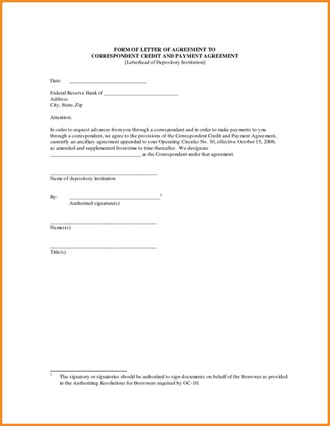Payment Letter Payment Agreement Template Resume Exles