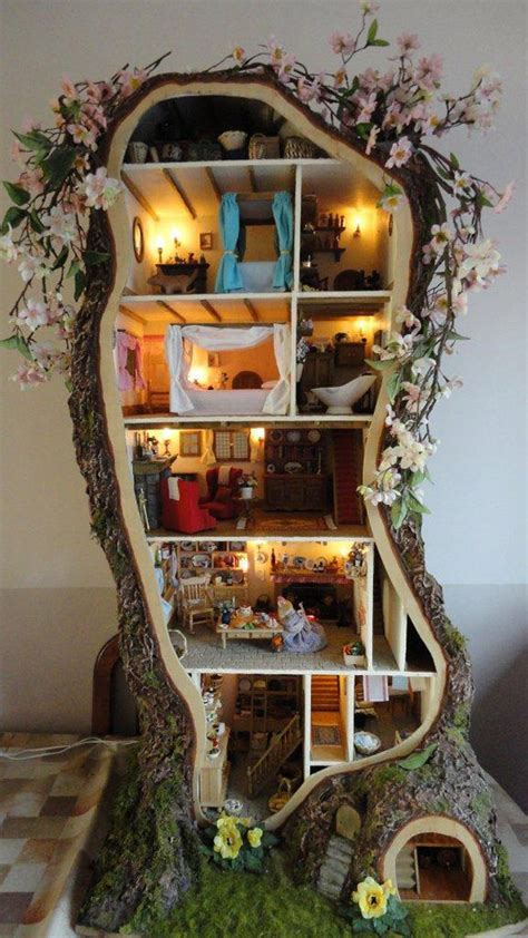 tree house doll house miniature tree house displaying stunning details by maddie brindley freshome com