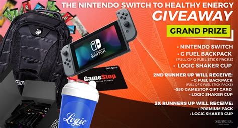 Giveaway Nintendo Switch - win nintendo switch g fuel pack free sles australia
