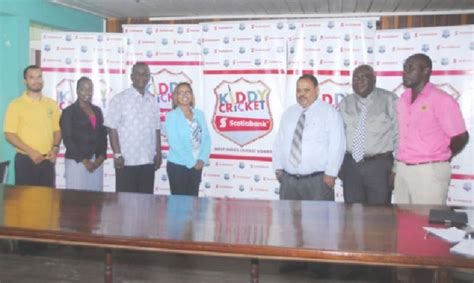 theme for education month 2015 in guyana scotia bank launches second season of kiddies cricket