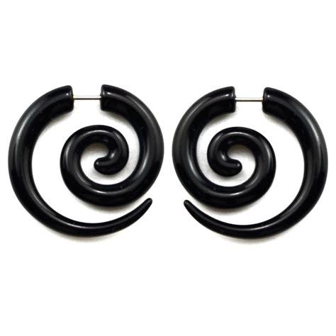 faux 233 carteurs noirs en spirale ronde 6mm boucles d