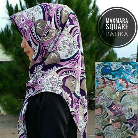 Jilbab Maxmara Square Maxmara Daun segiempat maxmara batika sentral grosir jilbab