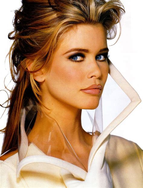 hair and makeup trends claudia schiffer