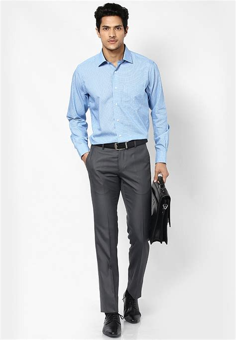 Plain Dress Light Grey Third Day s guide to pant shirt combination looksgud in