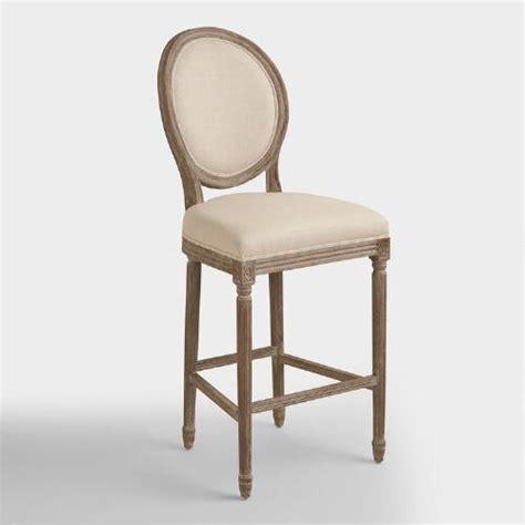 linen bar stools kirklands linen barstool world market