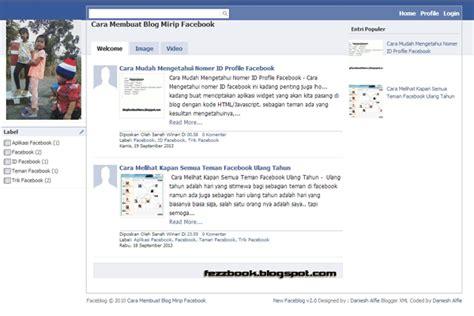 Membuat Html Seperti Facebook | cara membuat blog baru seperti facebook untuk pemula