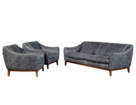 quilted leather sofa quilted distressed leather sofa in grey for sale at 1stdibs