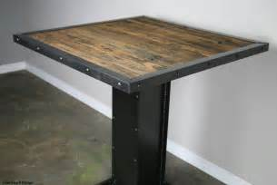 Modern Industrial Dining Table Bistro Dining Table Modern Industrial Design Reclaimed Wood